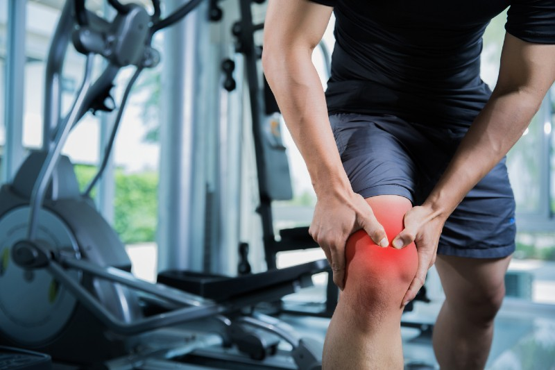 Knee injury during workout